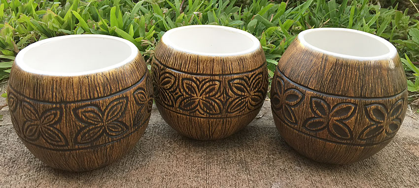 Coconut Tiki Mugs